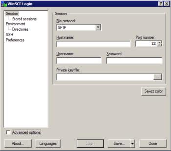 HPC/Network Access/WinSCP Configuration - CNM Wiki